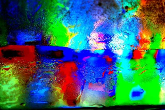 Priscilla Dale Jones - Abstracts - Water Forms - Color Wave, Fire on the Horizon - 2014
